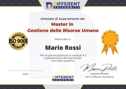 Diploma master - Different Academy